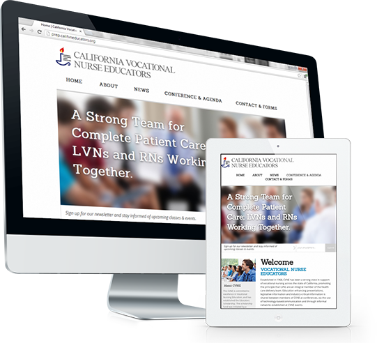California Vocational Nurse Educators Website Design