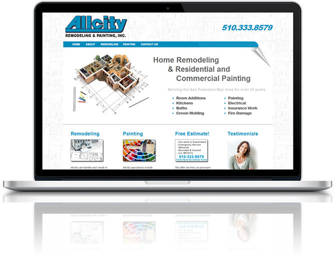 Allcity Remodel Website Design